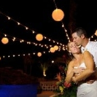 bistro lights wedding