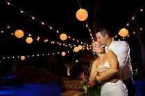 bistro wedding lights
