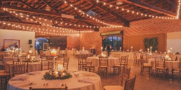 outdoor wedding lights