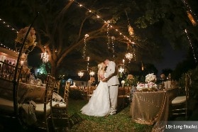 string lights wedding
