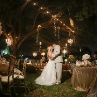 string lights for wedding