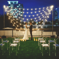 tent lighting for wedding